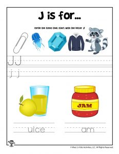 Letter J Phonics Recognition Worksheet