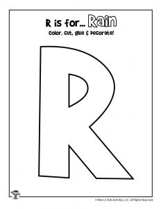 R is for Rainbows Coloring Craft Activity
