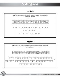 Cryptogram Secret Code Puzzles