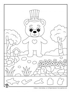 picture regarding Printable Hidden Picture Game named Patriotic Concealed Photos Printables for Small children Woo! Jr