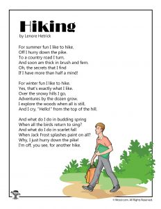 Hiking Children's Poetry