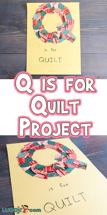 Magazine Clipping Q is for Quilt Project