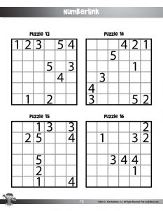 Numberlink Printable Brain Game for Kids