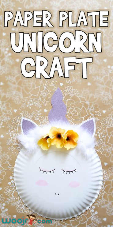 Paper Plate Unicorn Craft