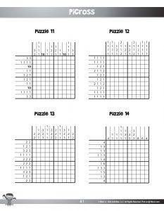 Printable Picross Puzzle