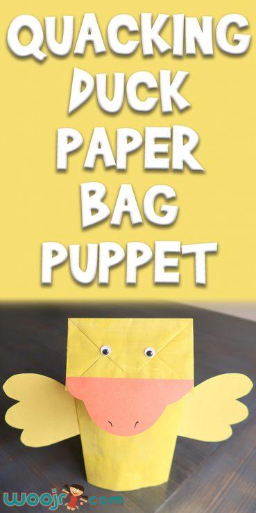 Quacking Duck Paper Bag Puppet