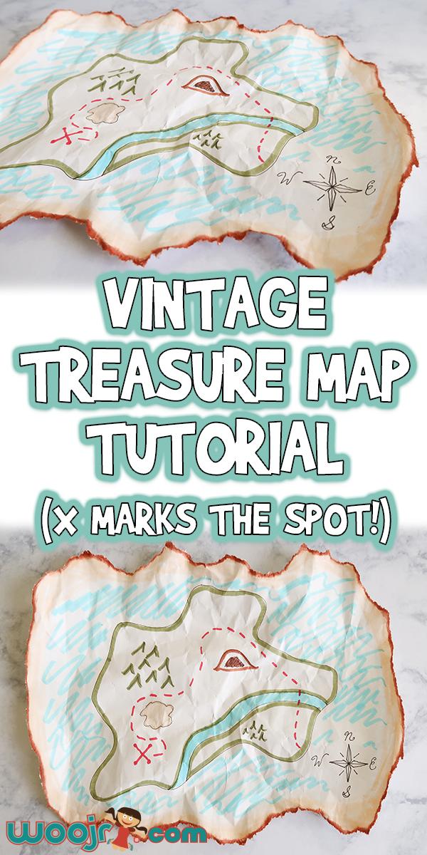 Vintage Treasure Map Craft Tutorial X Marks The Spot