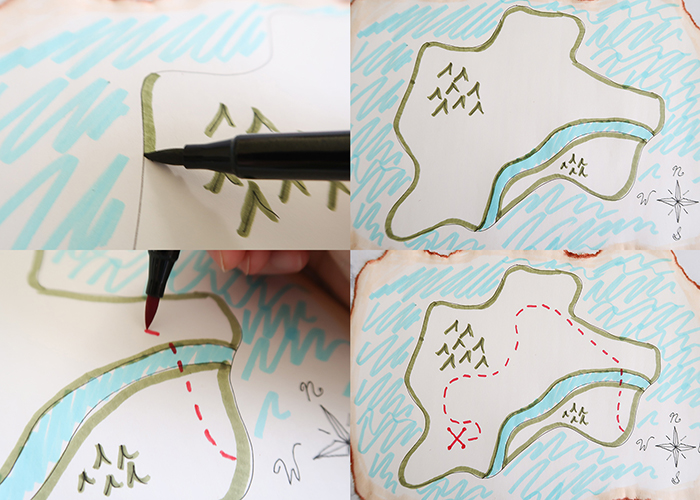 Vintage Treasure Map Tutorial (X Marks the Spot!)