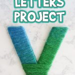Yarn Wrapped Letters Project