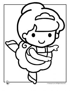 B is for Ballerina Coloring Page
