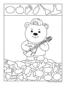 Bear Hidden Picture Activity
