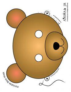 Bear Mask Printable
