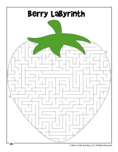 Berry Farm Maze Worksheet