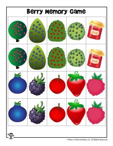 Berry Patch Printable Matching Game