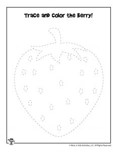 Trace the Strawberry Activity