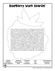 Raspberry Picking Word Search
