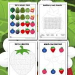 Berry Picking Activity Pages for Kids
