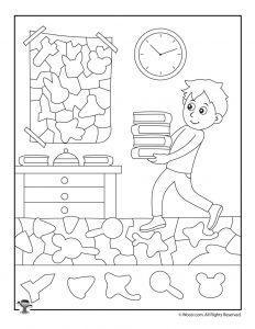 Books Hidden Objects Activity
