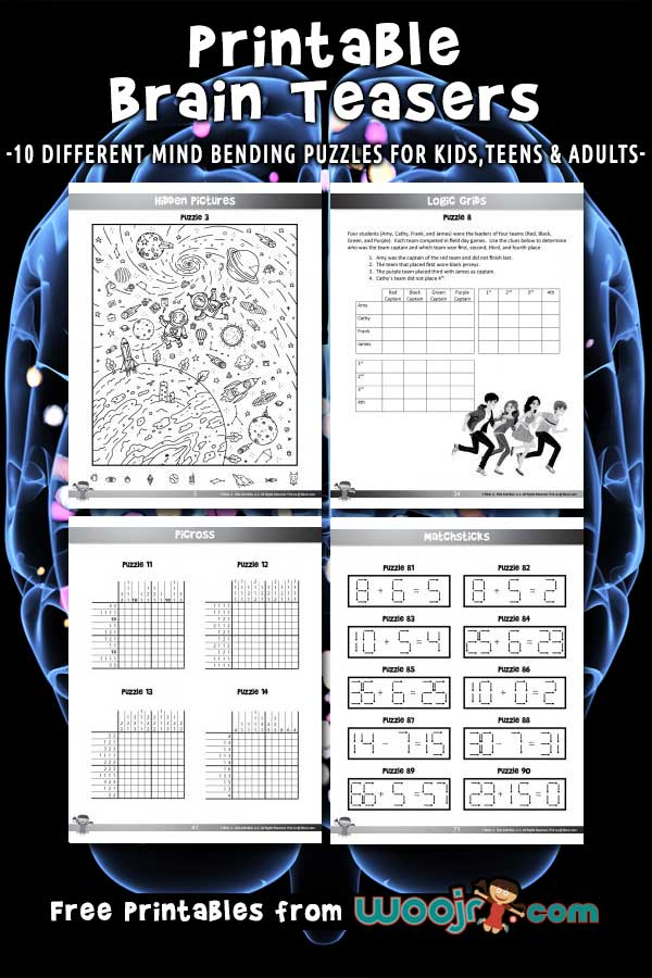 picture regarding Free Printable Brain Teasers referred to as Printable Intellect Teasers for Youngsters Woo! Jr. Young children Pursuits