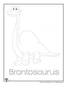 B is for Brontosaurus Word Tracing