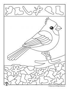 Cardinal Hidden Pictures Printable