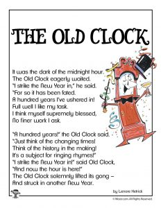 Clock Children's Poem