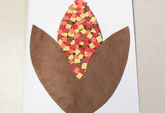 Corn Autumn Art Project
