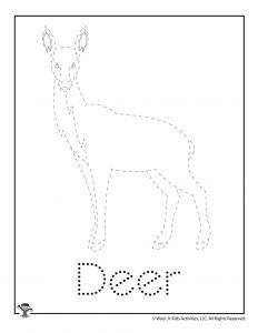 D is for Deer Word Tracing
