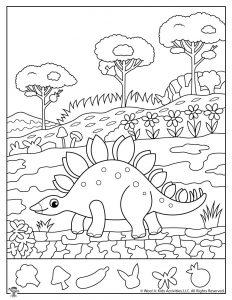 Dinosaur Hidden Pictures