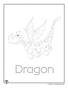D is for Dragon Word Tracing