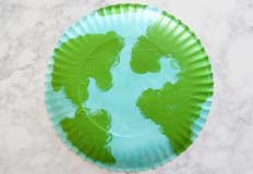 Easy Paper Plate Earth Craft