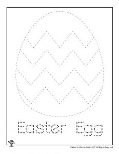 E is for Easter Egg Word Tracing