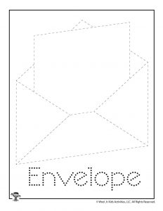 E is for Envelope Word Tracing