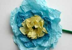 Flowers from Tissue Paper Craft
