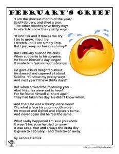 February Leap Year Poem