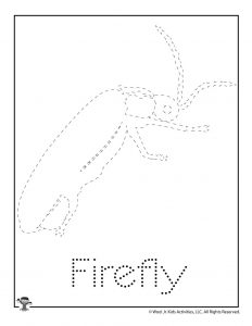 F is for Firefly Word Tracing