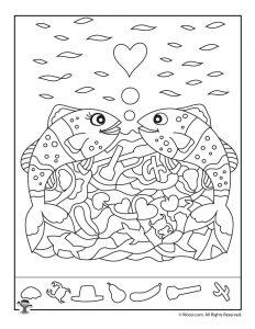 Fish Hidden Pictures Printable