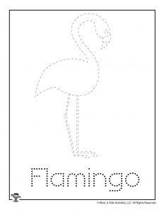 F is for Flamingo Word Tracing