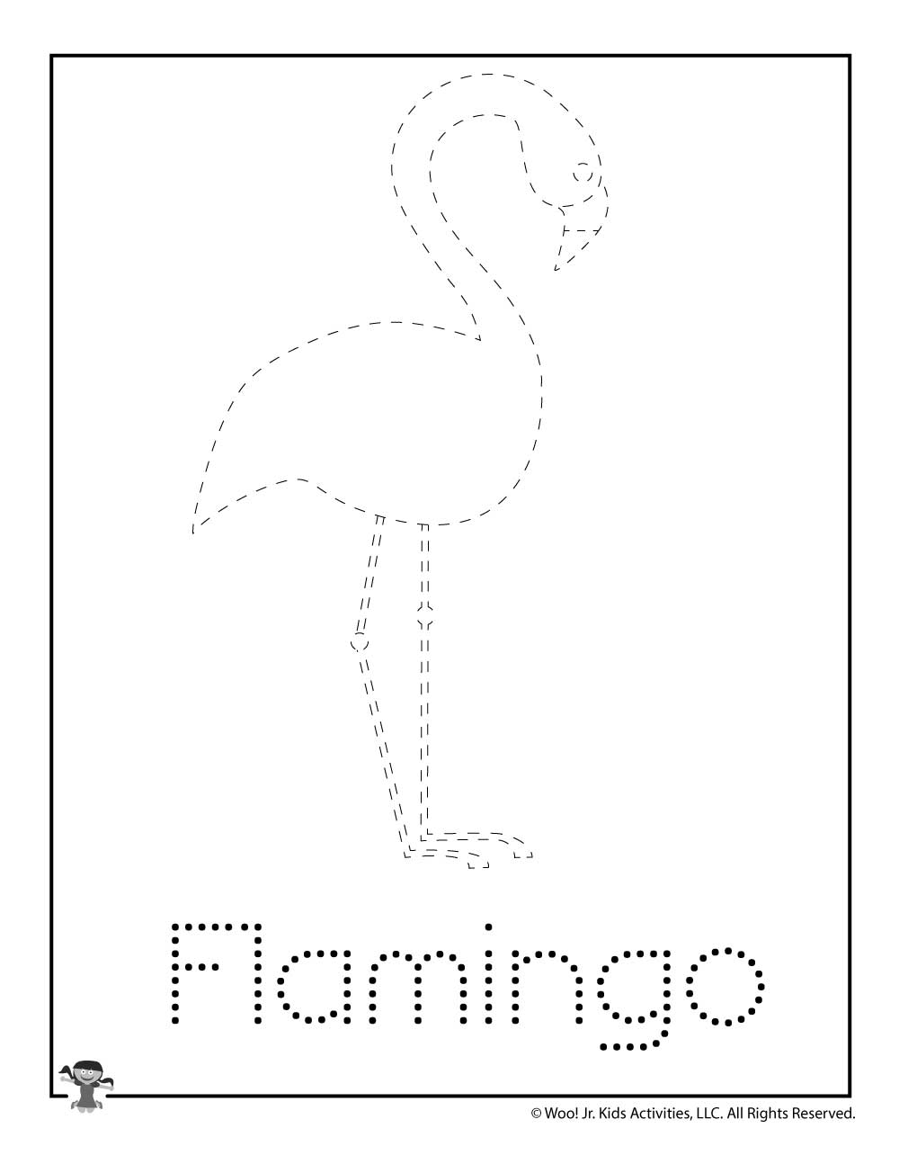 flamingo-f-tracing Valentines Day Fun Worksheets on active listening worksheets, winter color by number worksheets, jesus on valentine's day worksheets, workplace ethics worksheets, fun listening skills activity, memorial day fun worksheets, christmas spelling worksheets,