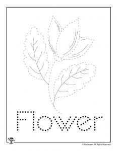 F is for Flower Word Tracing