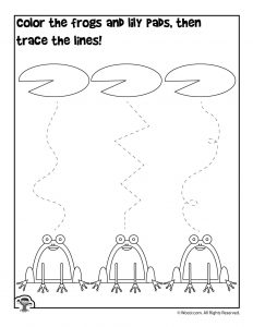 Frogs Tracing Practice Activity