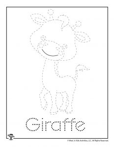 G is for Giraffe Word Tracing