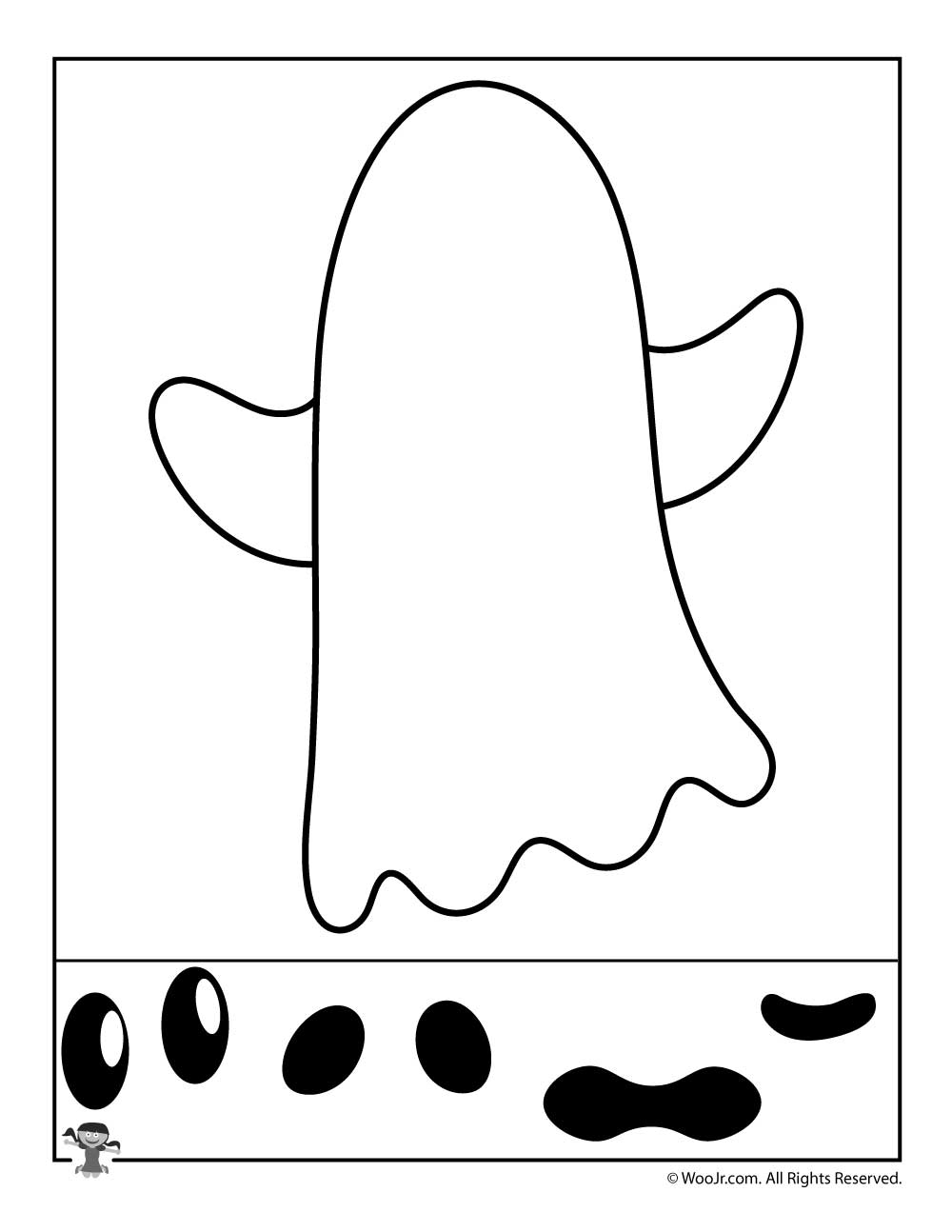 Ghost Cut and Paste Activity Sheet | Woo! Jr. Kids Activities