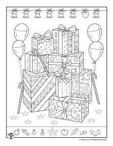 Gifts Hidden Objects Printable