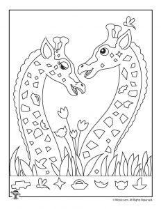 Giraffe Hidden Picture Page