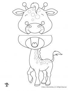 Giraffe Paper Bag Puppet