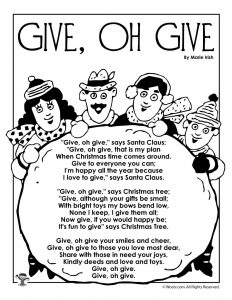 Give oh Give Printable Poem
