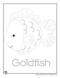 G is for Goldfish Word Tracing