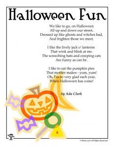 Halloween Fun Poem for Kids