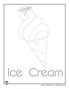 I is for Ice Cream Word Tracing